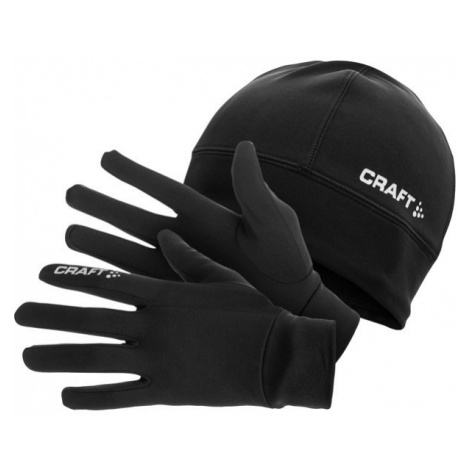 Craft RUNNING WINTER GIFT PACK black - Hat and gloves