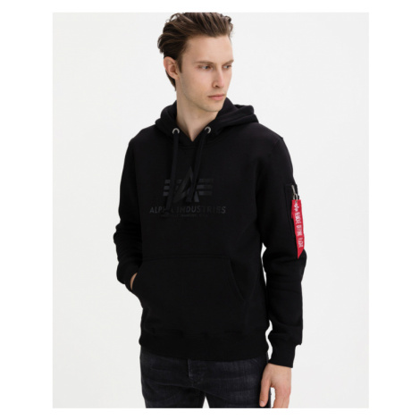 Alpha Industries Vinyl Logo Sweatshirt Black