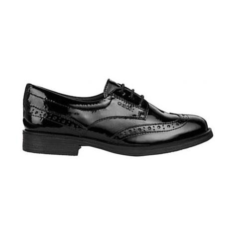 Geox Children's Agata Lace-Up Brogue Shoes, Black Patent