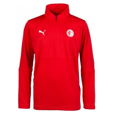 Puma LIGA TRAINING 1/4 ZIP TOP JR red - Children's sweatshirt