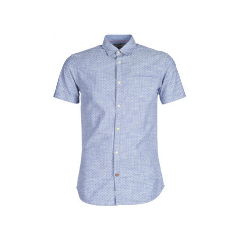 Jack Jones JORTOBY men's Short sleeved Shirt in Blue Jack & Jones