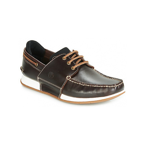 Timberland HEGER'S BAY 3 EYE BOAT men's Boat Shoes in Brown
