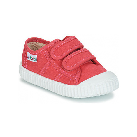 Victoria BASKET VELCRO LONA girls's Children's Shoes (Trainers) in Pink