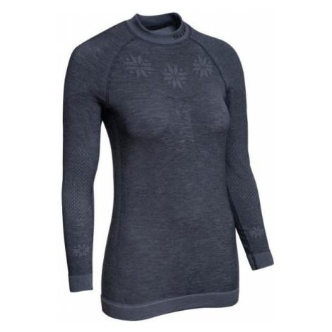 Blizzard VIVA LONG SLEEVE WOOL dark gray - Women's functional Merino shirt
