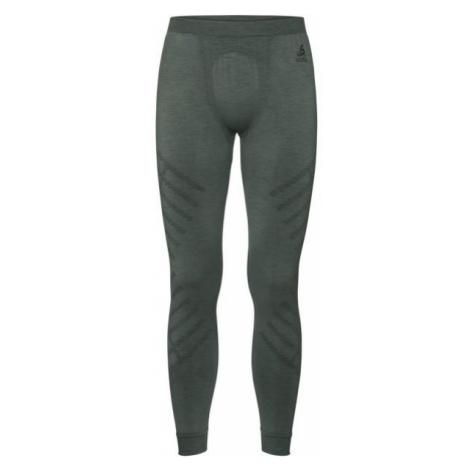 Odlo NATURAL KNISHIP WARM BI BOTTOM LONG dark green - Men's functional tights