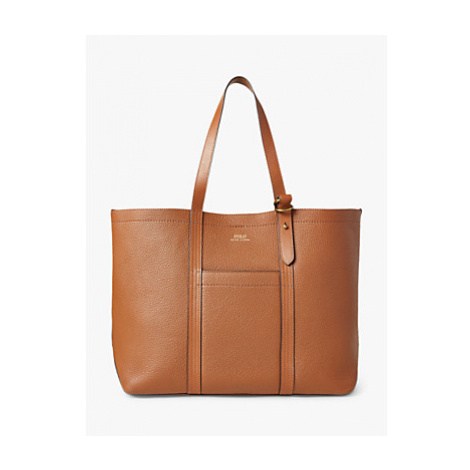 Polo Ralph Heavy Pebbled Leather Classic Tote Bag Ralph Lauren