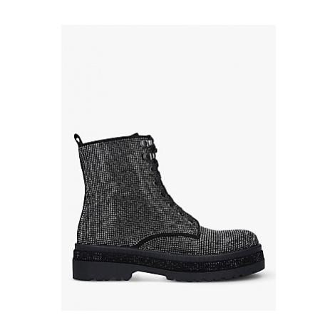 Carvela Ta-Da Embellished Biker Boots, Black