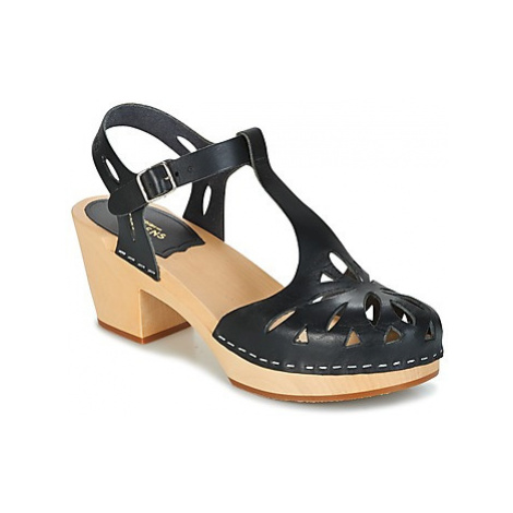 Swedish hasbeens LACY women's Clogs (Shoes) in Black