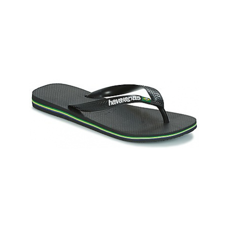 Havaianas BRAZIL LOGO women's Flip flops / Sandals (Shoes) in Black