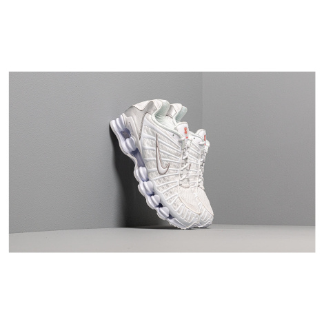 Nike Shox TL White/ White-Metallic Silver-Max Orange