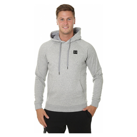 sweatshirt Under Armour Rival Fleece - 036/Steel Light Heather/Black - men´s