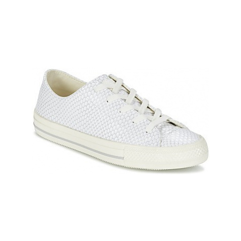 Converse CHUCK TAYLOR ALL STAR GEMMA SNAKE LEATHER OX women's Shoes (Trainers) in White