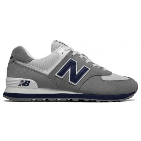 New Balance 574 Core Plus Shoes - Gunmetal/Navy