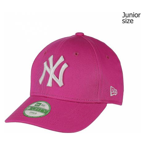 cap New Era 9FO League Basic MLB New York Yankees Kid's - Hot Pink/Optic White