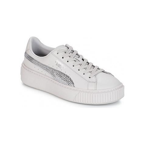 Puma G JR B PLATFORM BLING.GRAY girls's Children's Shoes (Trainers) in Grey