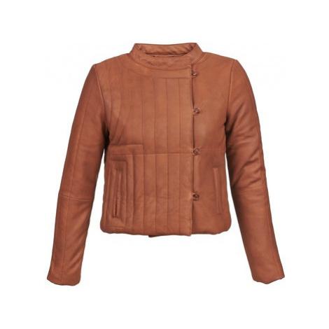 Antik Batik YOANN women's Leather jacket in Brown