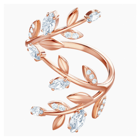 Mayfly Ring, White, Rose-gold tone plated Swarovski