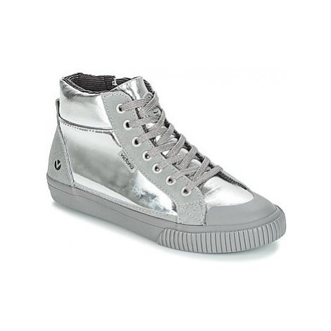 Victoria BOTA METALIZADA CREMALERA girls's Children's Shoes (High-top Trainers) in Silver