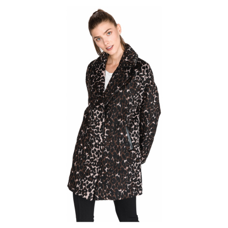 Guess Rita Coat Black Brown Colorful