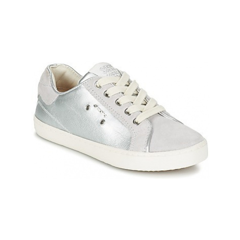 Geox J KIWI G. B girls's Children's Shoes (Trainers) in Silver