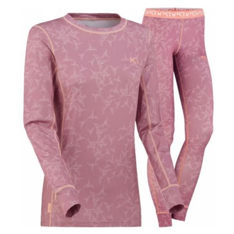 KARI TRAA SJOLVSAGT SET pink - Women's set of base layers