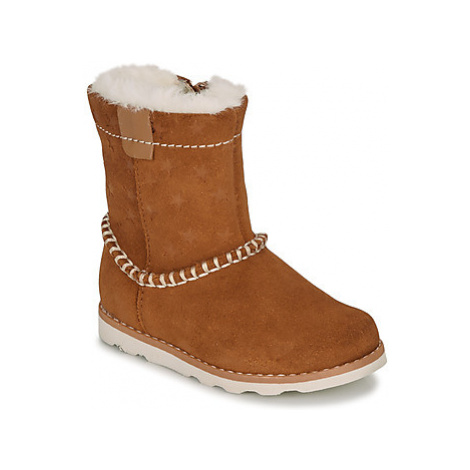 Clarks CROWN PIPER T girls's Children's Mid Boots in Brown