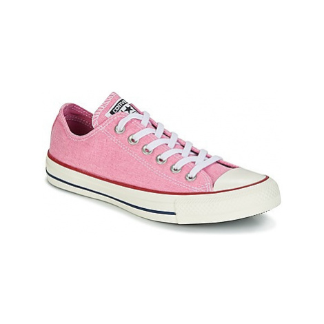Converse Chuck Taylor All Star Ox Stone Wash women's Shoes (Trainers) in Pink