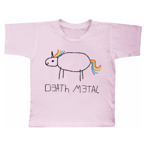 Death Metal Unicorn - - Kids shirt - light pink