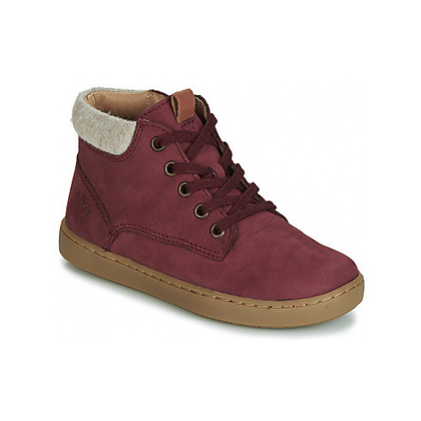 Shoo Pom PLAY DESERT FUR girls's Children's Shoes (High-top Trainers) in Bordeaux