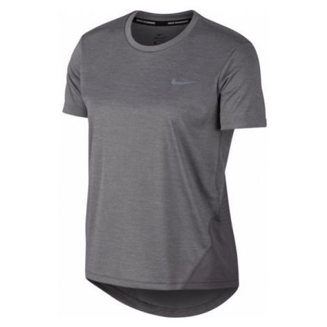 Nike MILER TOP SS W gray - Women's running T-shirt