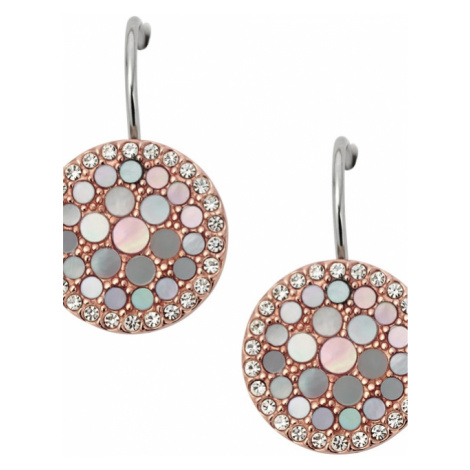 Fossil Jewellery Mother of Pearl Disc Earrings JEWEL JF01737791