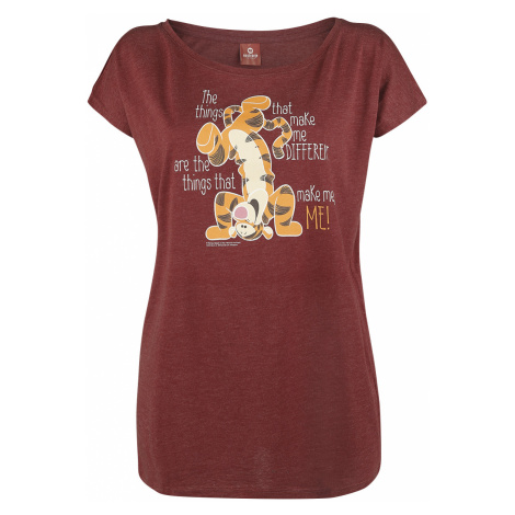 Winnie the Pooh - Tigger - Different - Girls shirt - mottled red