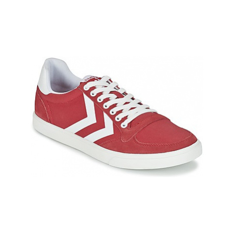 Hummel TEN STAR WAXED CANVAS LOW women's Shoes (Trainers) in Red