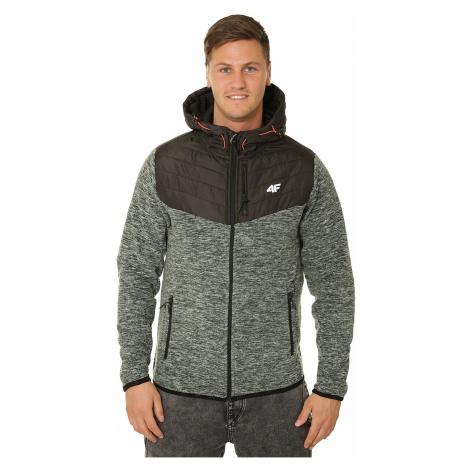 sweatshirt 4F H4L19-PLM002 Zip - 24M/Middle Gray Melange - men´s