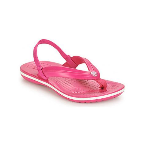 Crocs CROCBAND STRAP FLIP K girls's Children's Flip flops / Sandals in Pink