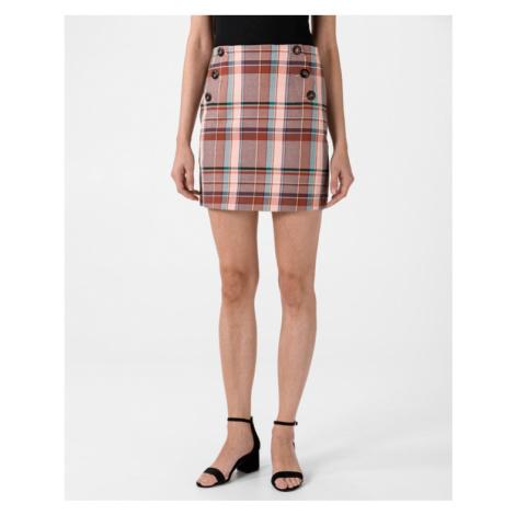 Tommy Hilfiger Blend Check Mini Skirt Pink