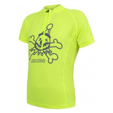 Sensor CYKLO ENTRY yellow - Kids' cycling jersey