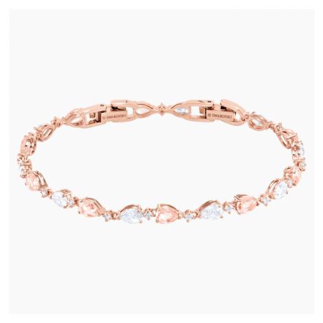 Vintage Bracelet, Pink, Rose-gold tone plated Swarovski