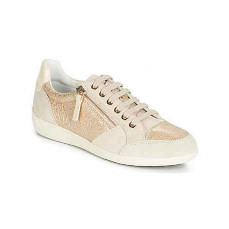 Geox D MYRIA women's Shoes (Trainers) in Gold