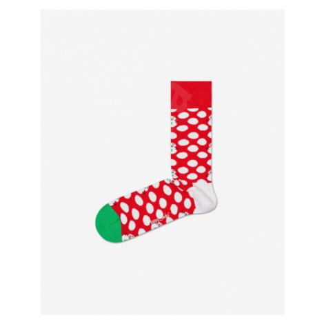 Happy Socks Big Dot Snowman Socks Red