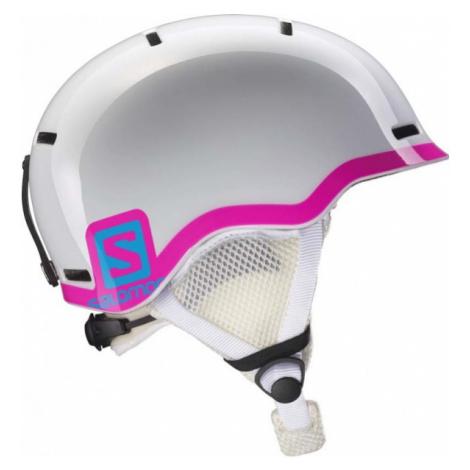 Salomon GROM BLUE / RED white - Kids' ski helmet