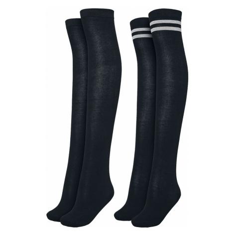 Urban Classics Ladies Overknee Socks 2-Pack Knee Socks black black grey