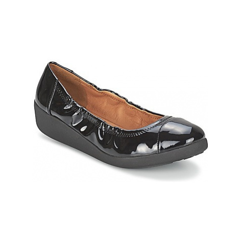 FitFlop F-POP BALLERINA PATENT women's Shoes (Pumps / Ballerinas) in Black