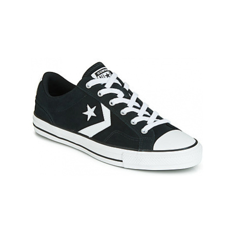Converse STAR PLAYER PENDING SUEDE OX women's Shoes (Trainers) in Black