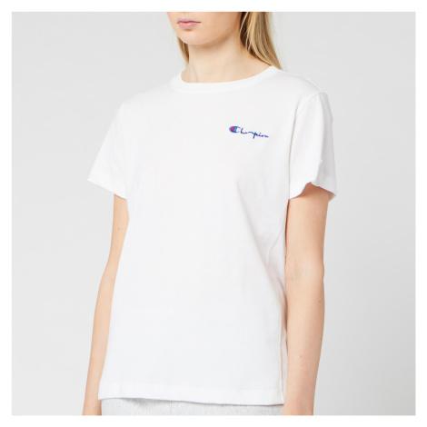 Champion Women's Small Script T-Shirt - White