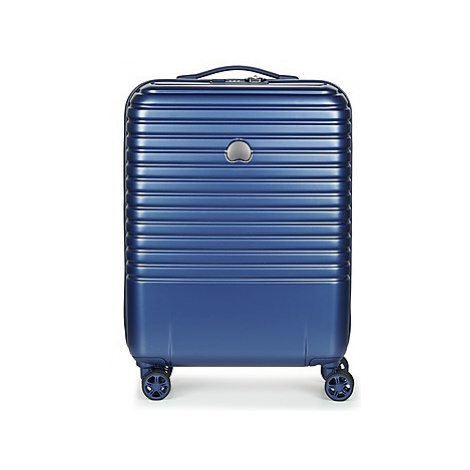 Delsey CAUMARTIN PLUS VALISE TROLLEY CABINE SLIM 4 DOUBLES ROUES 55 CM men's Hard Suitcase in Bl