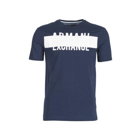Armani Exchange HELBINEL men's T shirt in Blue