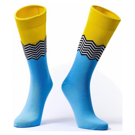 socks Soxit Waves - Blue/Yellow