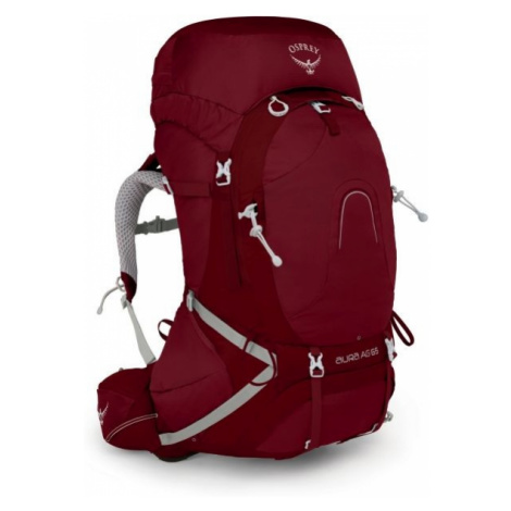 Osprey AURA AG 65 II W S red wine - Outdoor backpack
