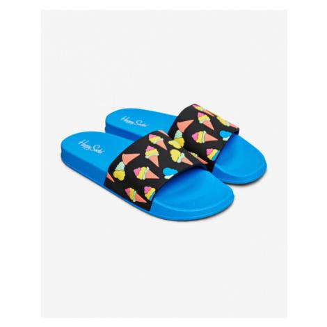 Happy Socks Pool Slider Ice Cream Slippers Blue